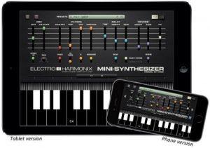 Electro-Harmonix Mini-Synthesizer App shown in iPad and iPhone versions (PRNewsFoto/Electro-Harmonix)