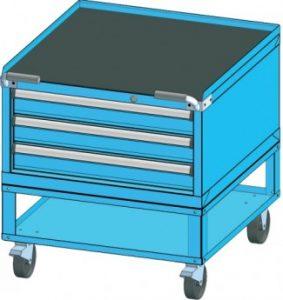 kovový vozík