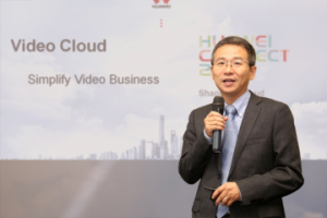 Kai Li, ředitel platformy Video Cloud, Huawei Carrier Software BU, představuje video cloud (PRNewsFoto/Huawei)