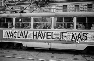 Vaclav Havel by Tomki Nemec, Photographs Praha, prosinec 1989