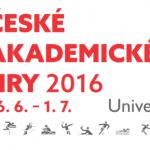 XV. České akademické hry 2016 se konají letos na půdě Univerzity Pardubice