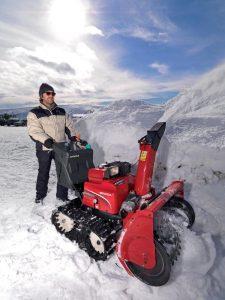 Pásová sněhová fréza Honda