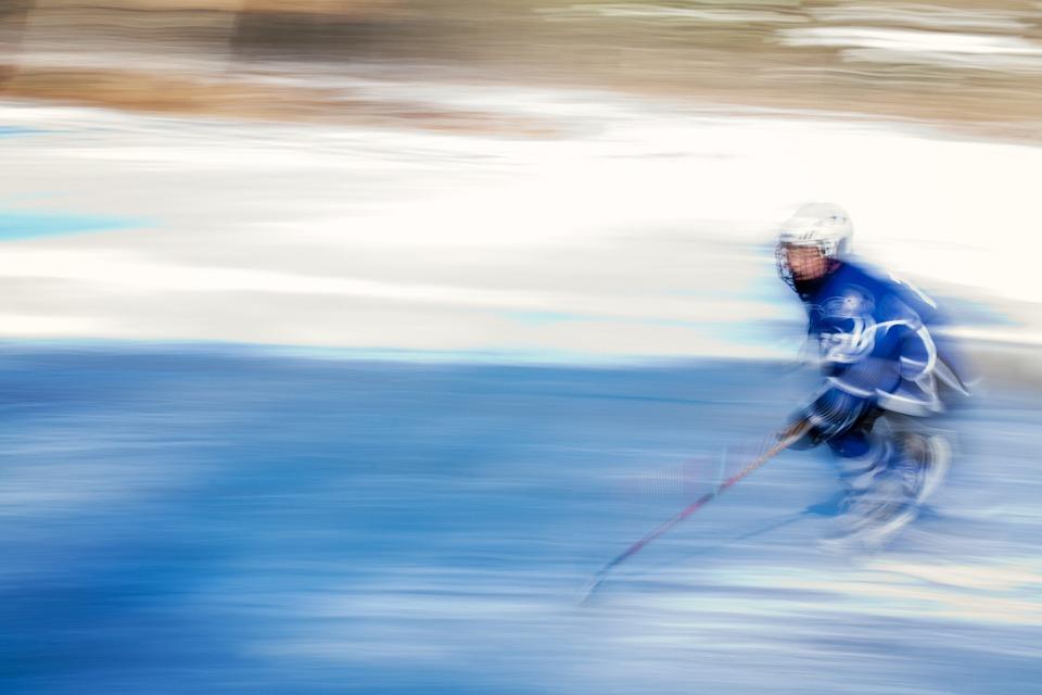 brusle, hokejka, Bauer - foto